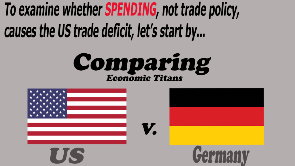 A good place to start to evaluate spending is comparing the US to Germany.
