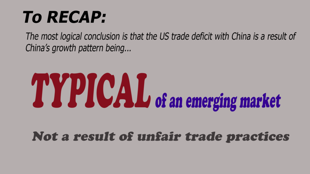 "Which is just further indication that the US trade deficit with China is not necessarily a result of China ""cheating."""