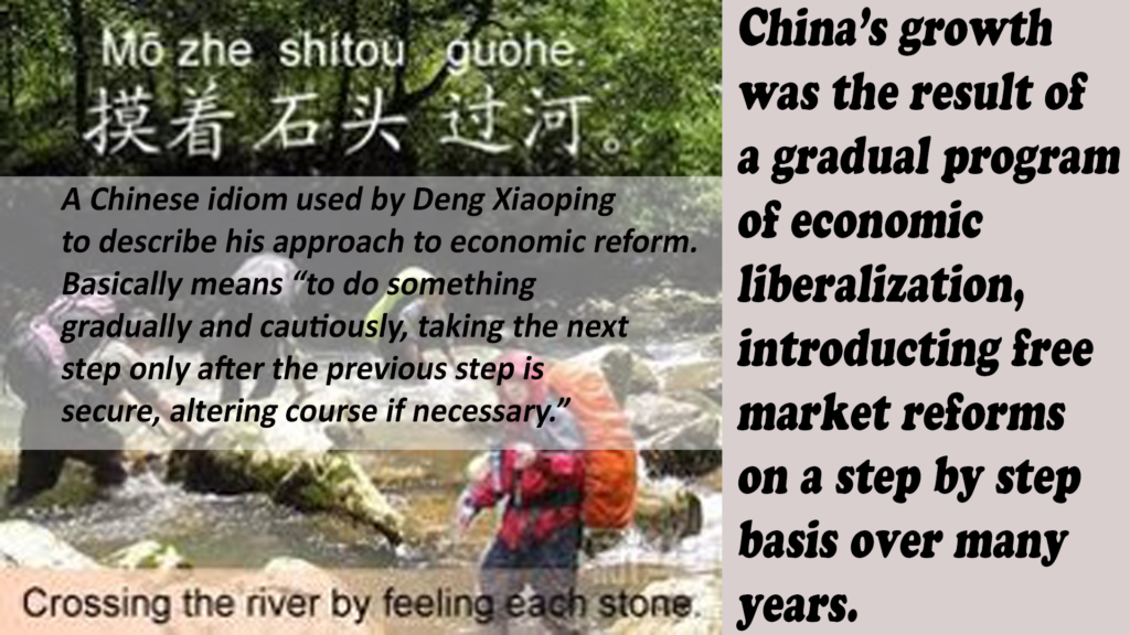 Critical to understanding China is the reform program that caused the growth in the first place.